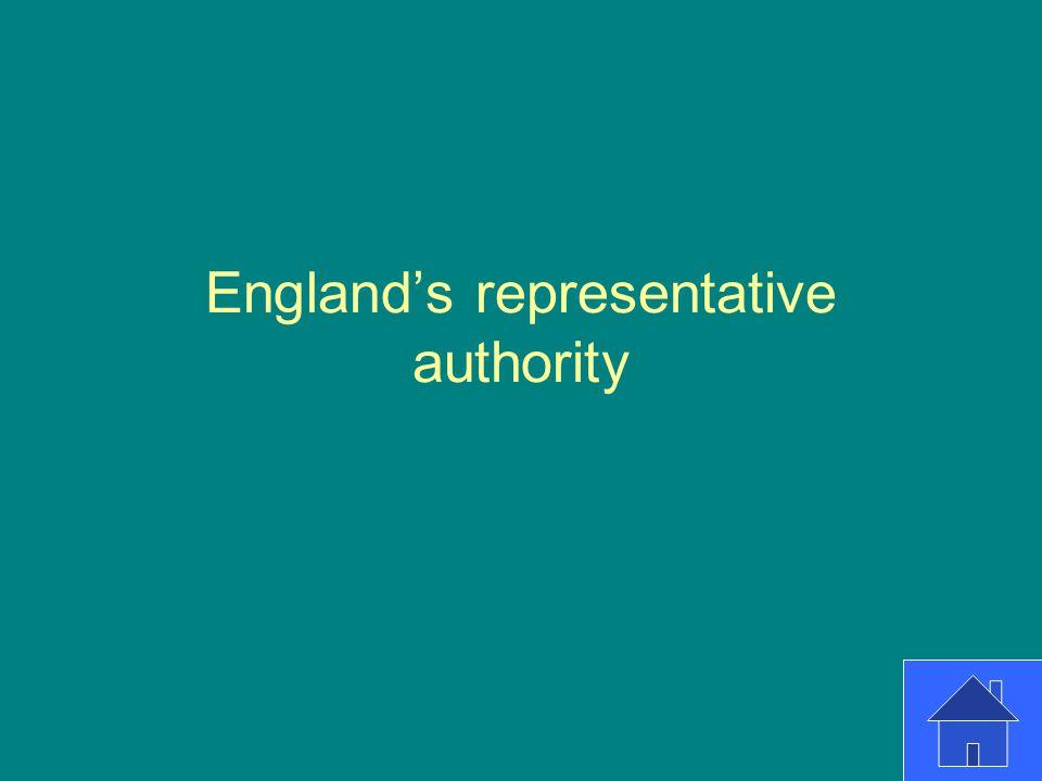 England's representative authority