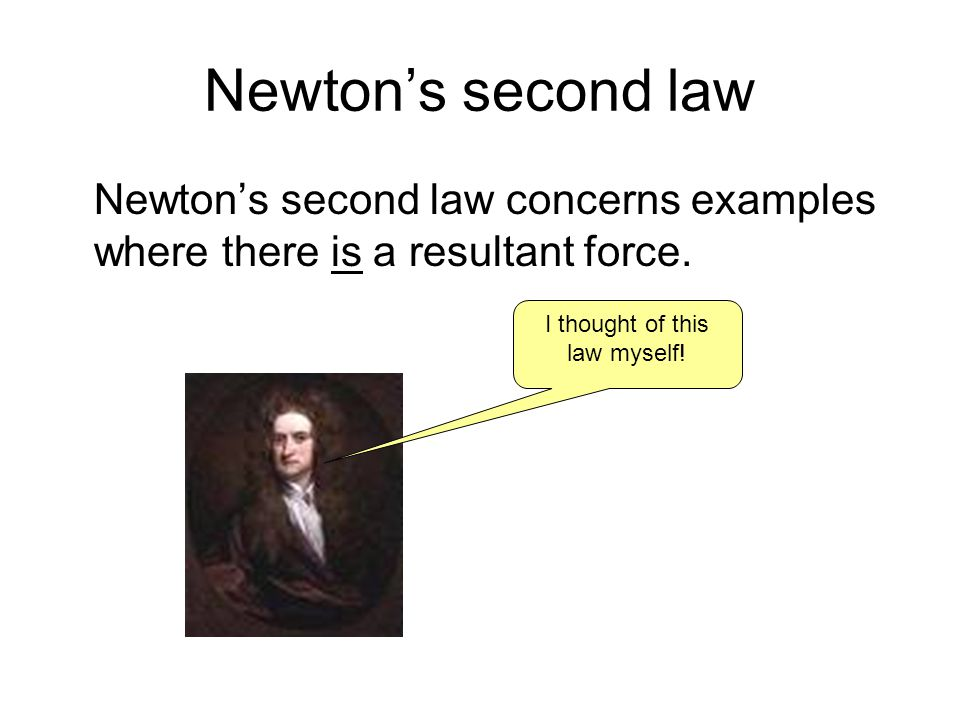 I thought of this law myself!