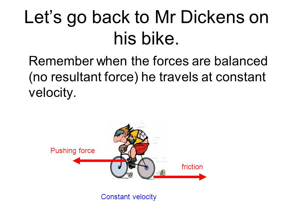 Let's go back to Mr Dickens on his bike.