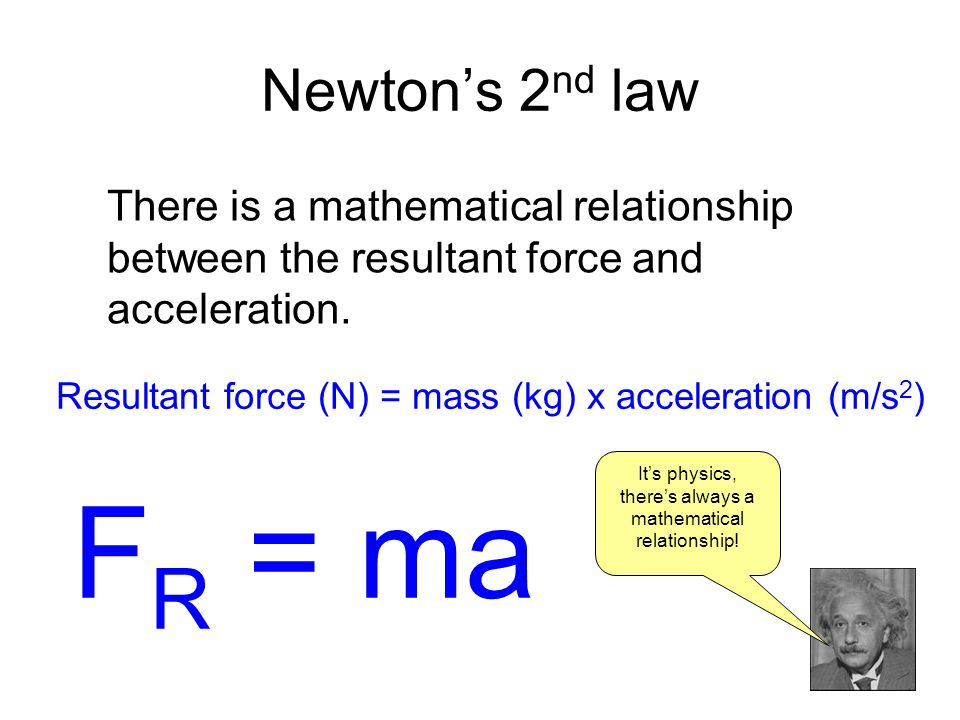 It's physics, there's always a mathematical relationship!