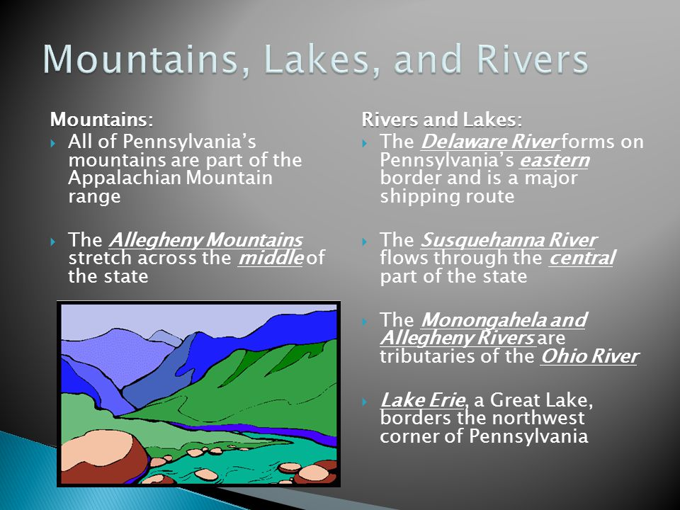 Mountains, Lakes, and Rivers
