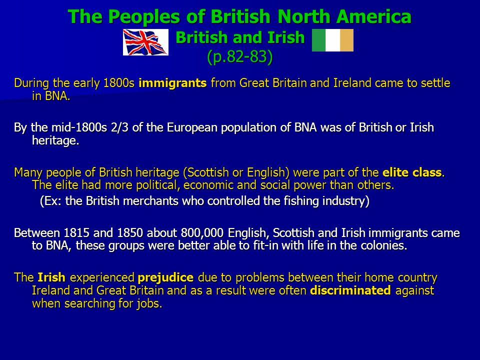 The Peoples of British North America British and Irish (p.82-83)
