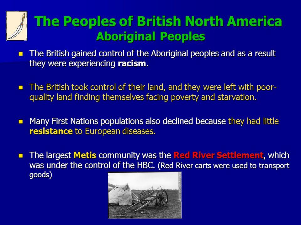 The Peoples of British North America Aboriginal Peoples