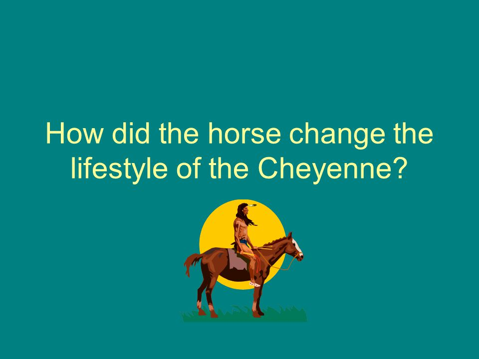 How did the horse change the lifestyle of the Cheyenne