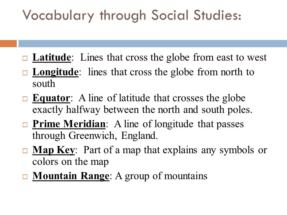 Vocabulary through Social Studies: