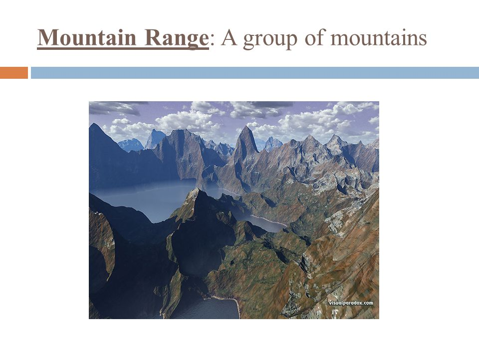 Mountain Range: A group of mountains