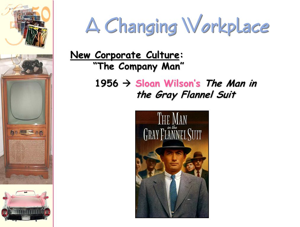A Changing Workplace New Corporate Culture: The Company Man