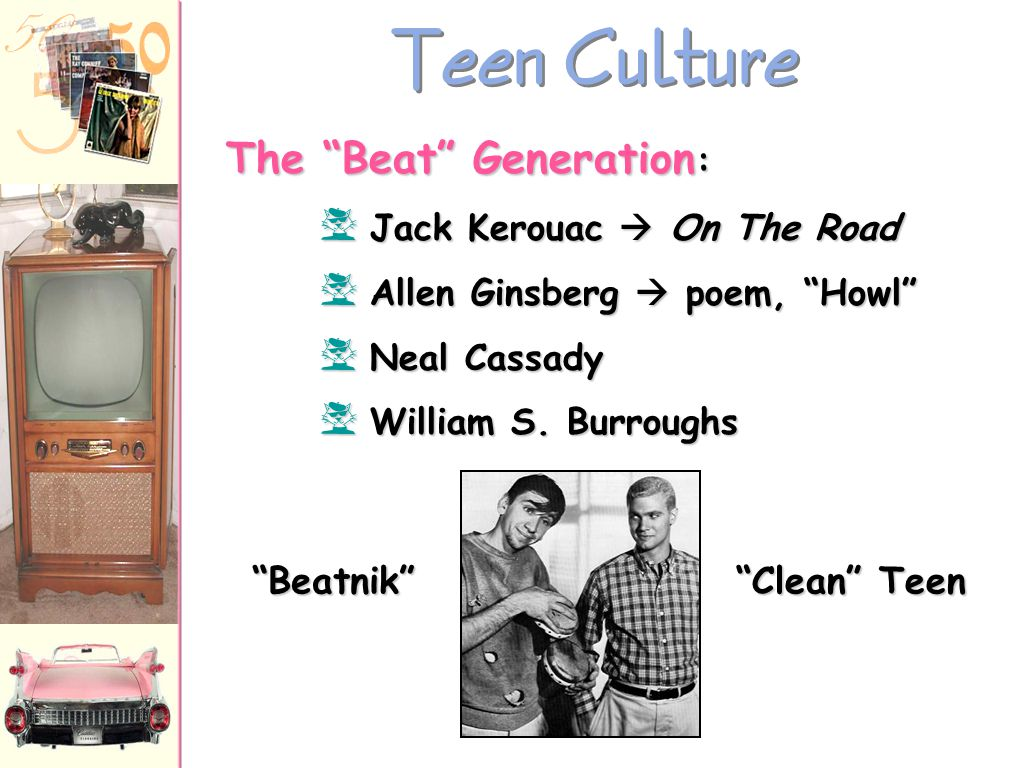 Teen Culture The Beat Generation: Beatnik Clean Teen