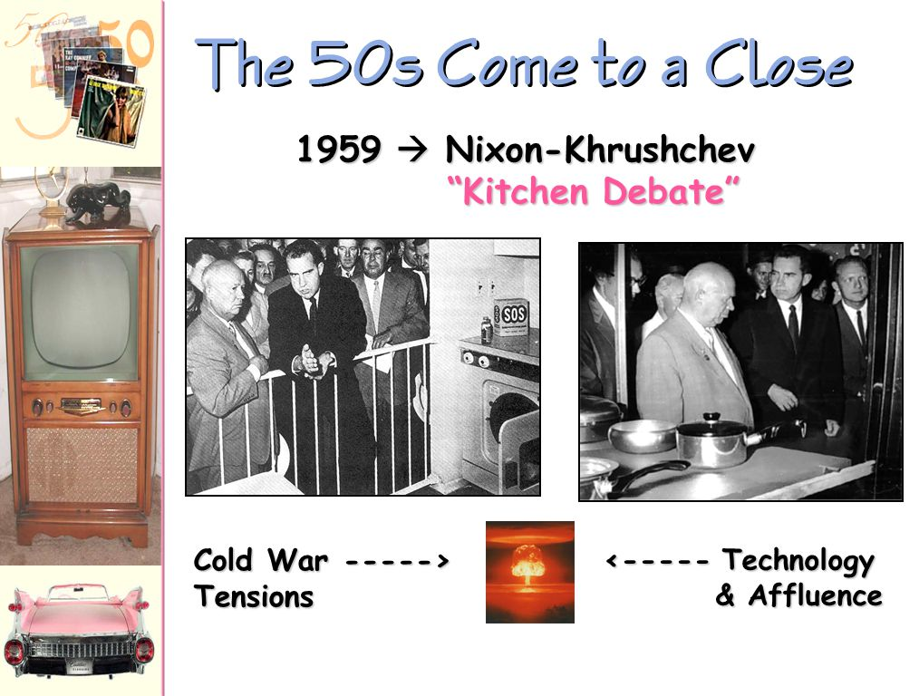 The 50s Come to a Close 1959  Nixon-Khrushchev Kitchen Debate