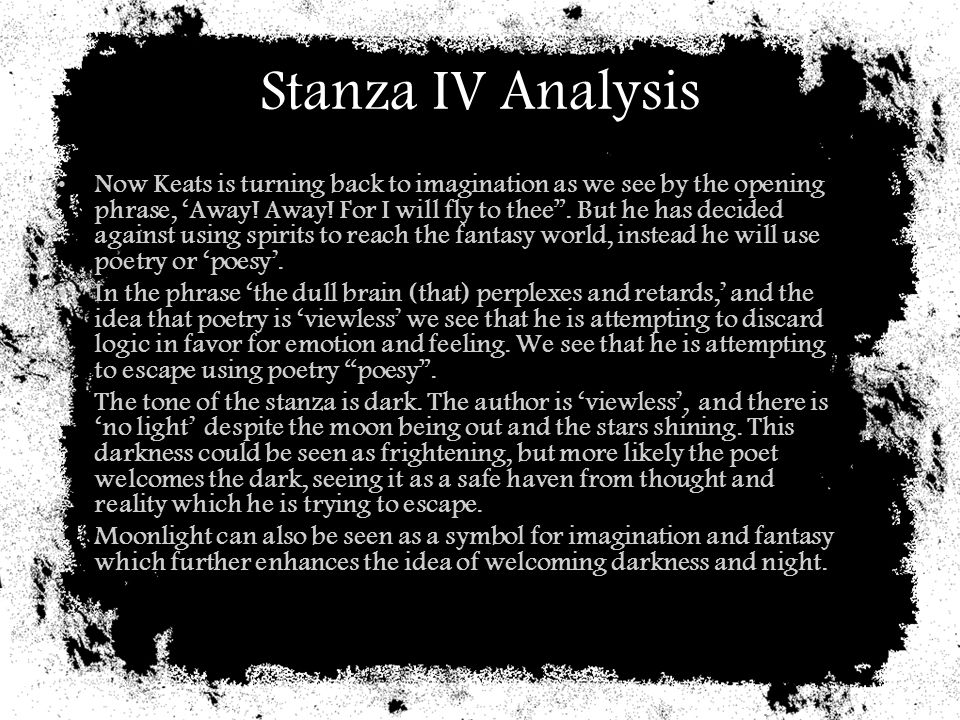 Stanza IV Analysis