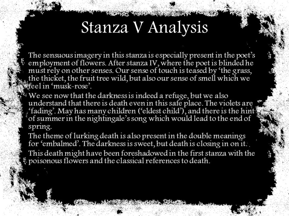 Stanza V Analysis