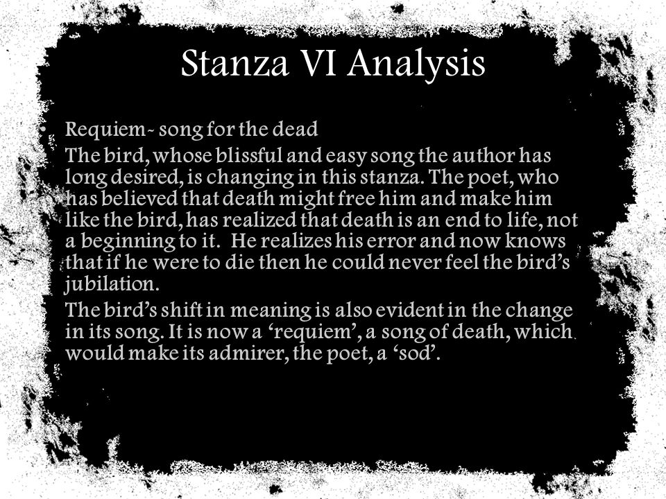 Stanza VI Analysis Requiem- song for the dead
