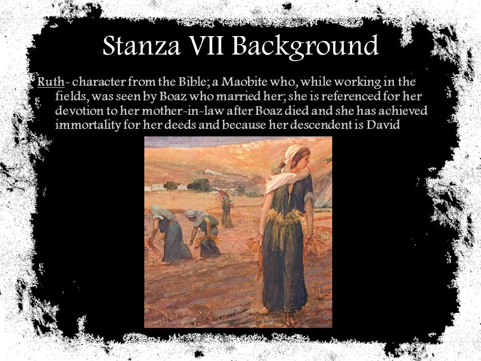 Stanza VII Background
