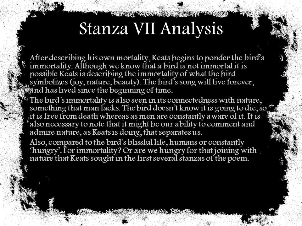 Stanza VII Analysis