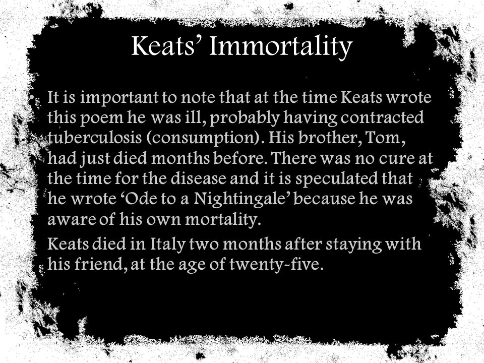 Keats' Immortality