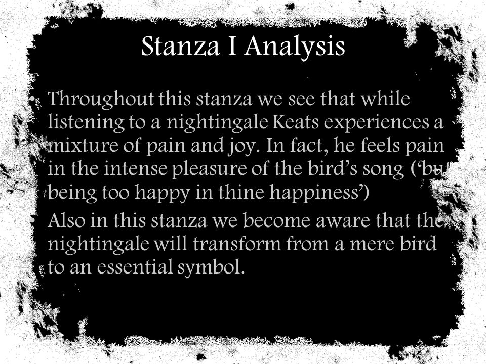 Stanza I Analysis