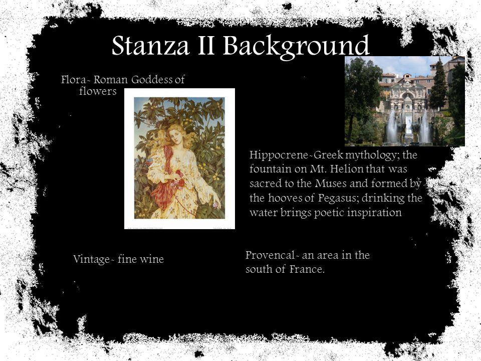 Stanza II Background Flora- Roman Goddess of flowers