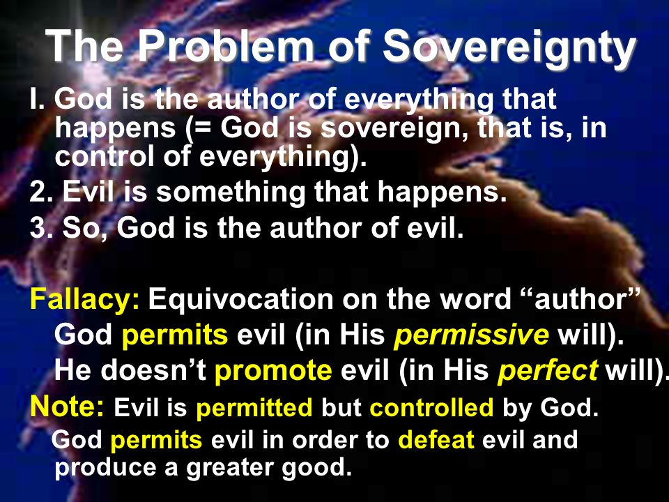 The Problem of Sovereignty