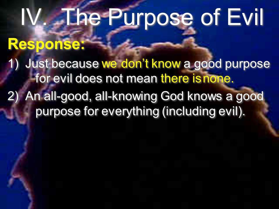 IV. The Purpose of Evil Response: