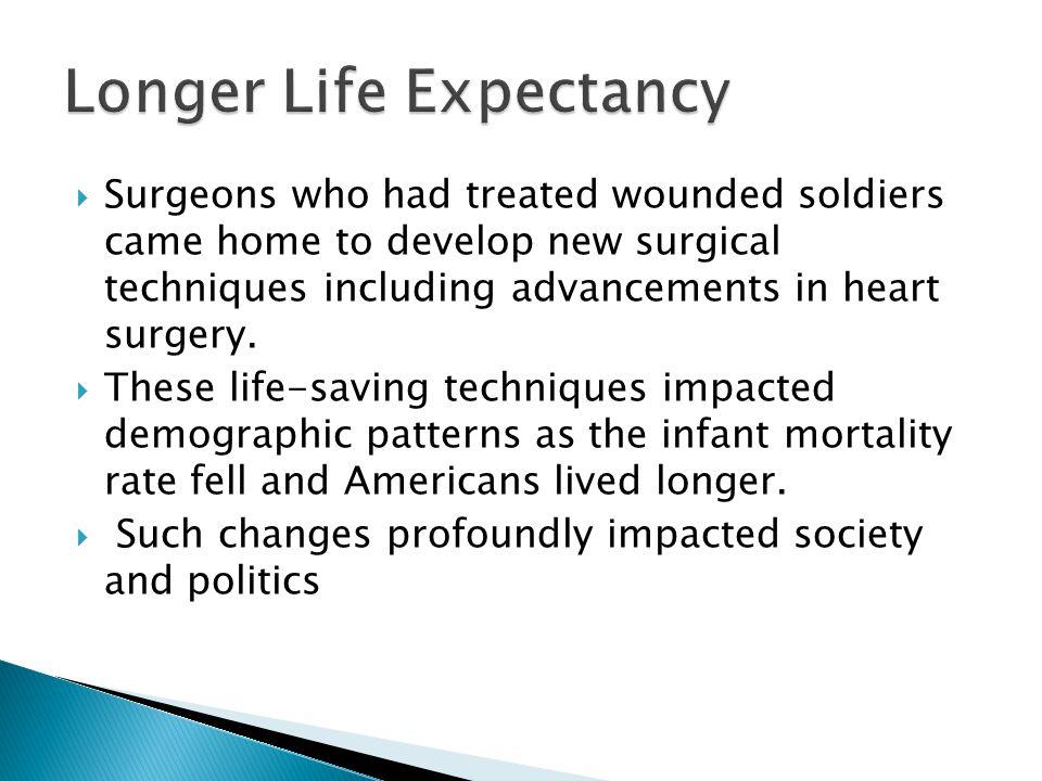 Longer Life Expectancy