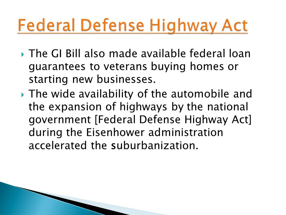 Federal Defense Highway Act