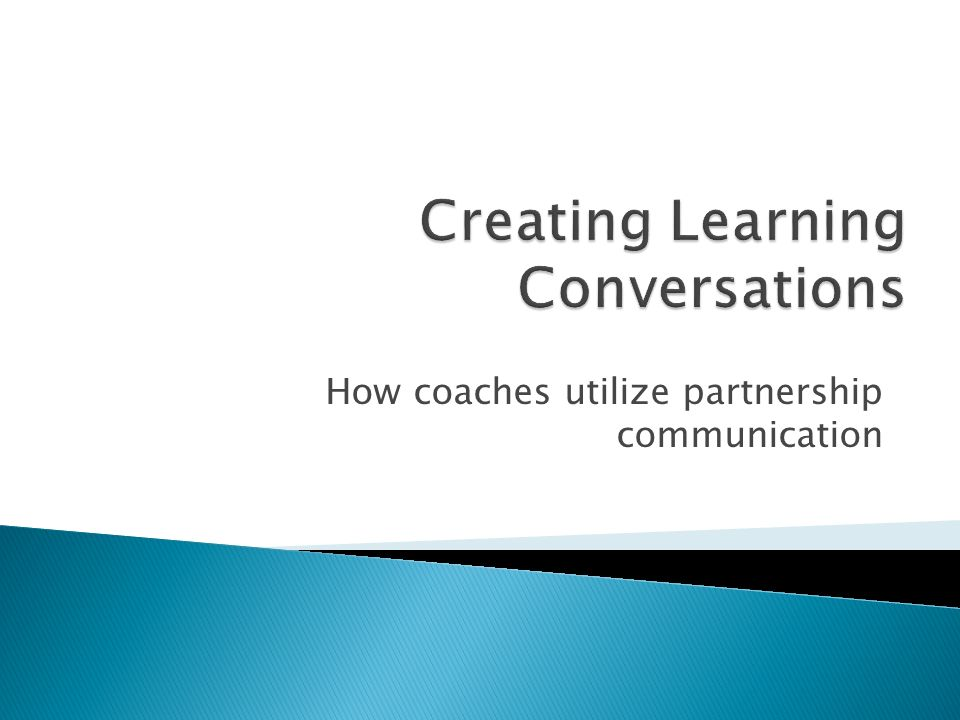 Creating Learning Conversations