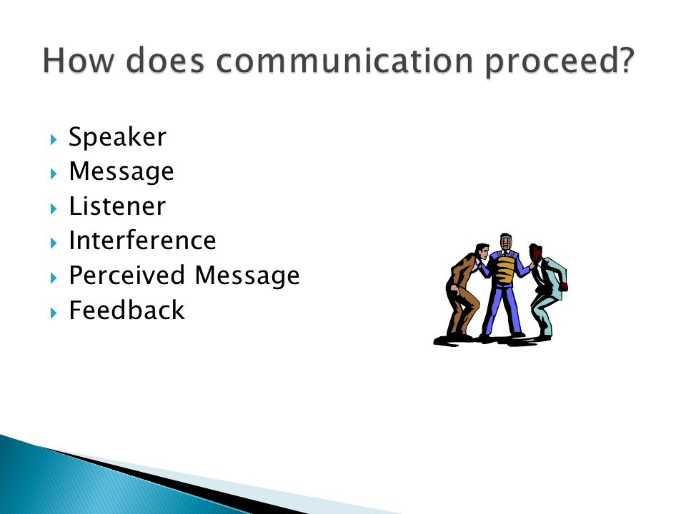 How does communication proceed