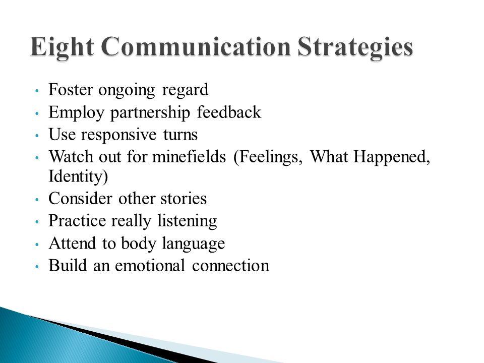 Eight Communication Strategies