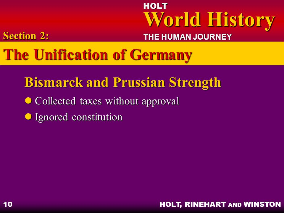 Bismarck and Prussian Strength