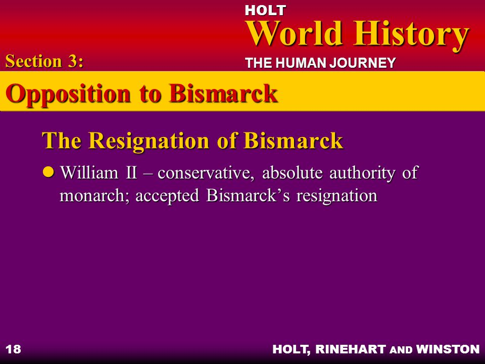 The Resignation of Bismarck