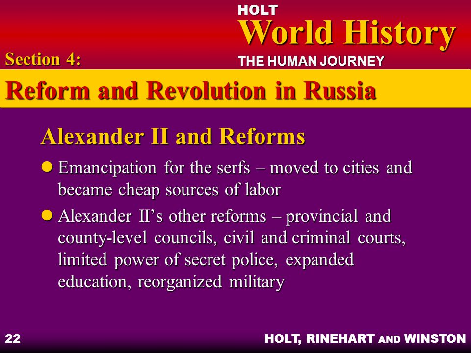Alexander II and Reforms