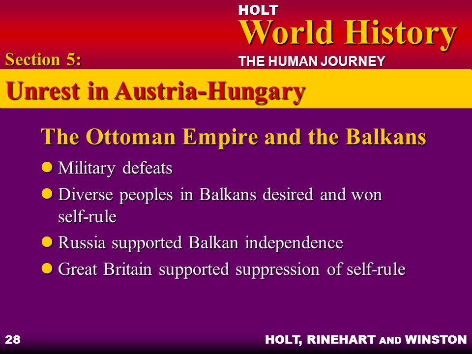 The Ottoman Empire and the Balkans