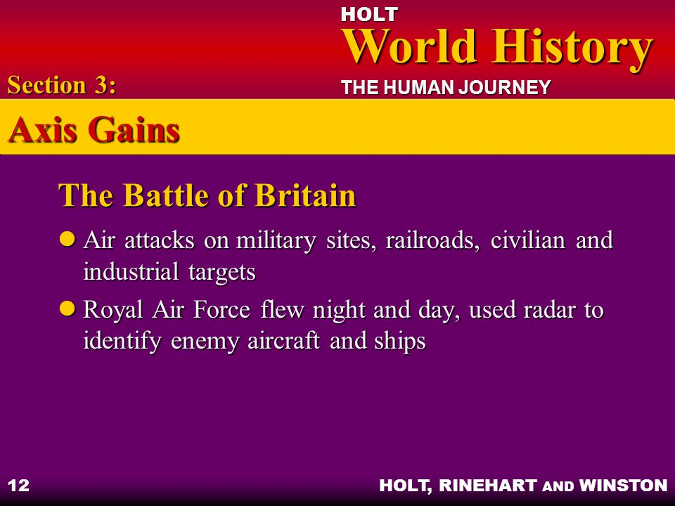 Axis Gains The Battle of Britain Section 3: