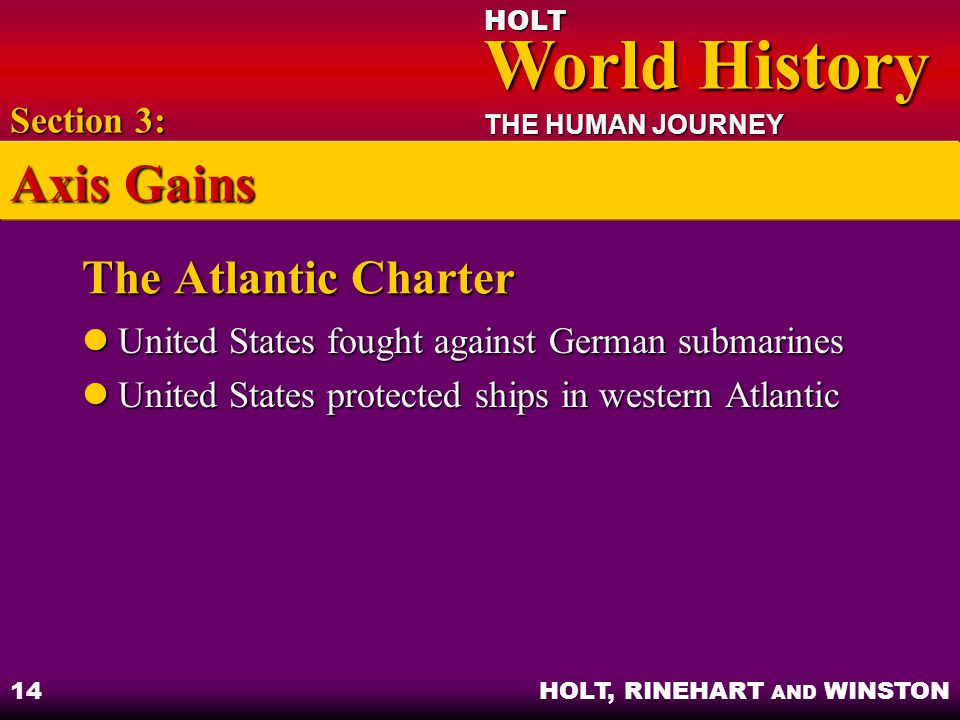 Axis Gains The Atlantic Charter Section 3: