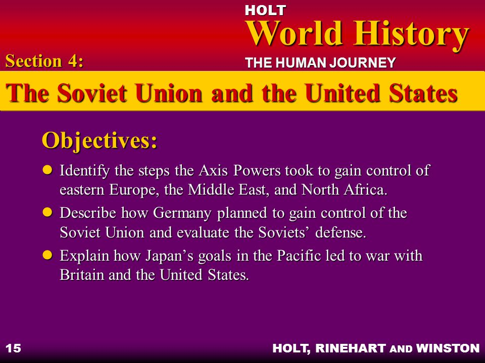 The Soviet Union and the United States