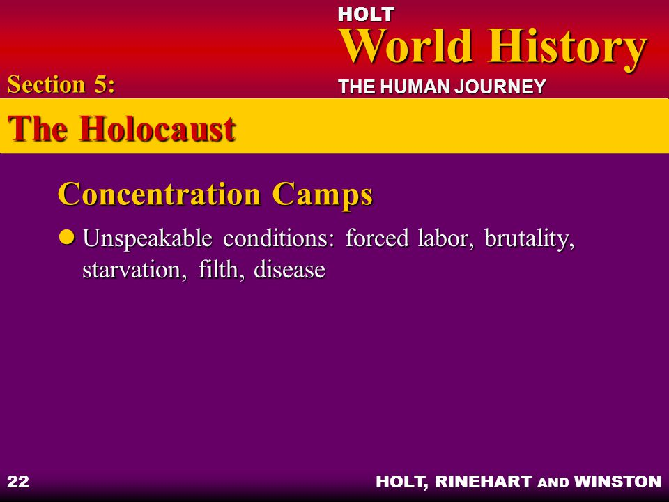 The Holocaust Concentration Camps Section 5: