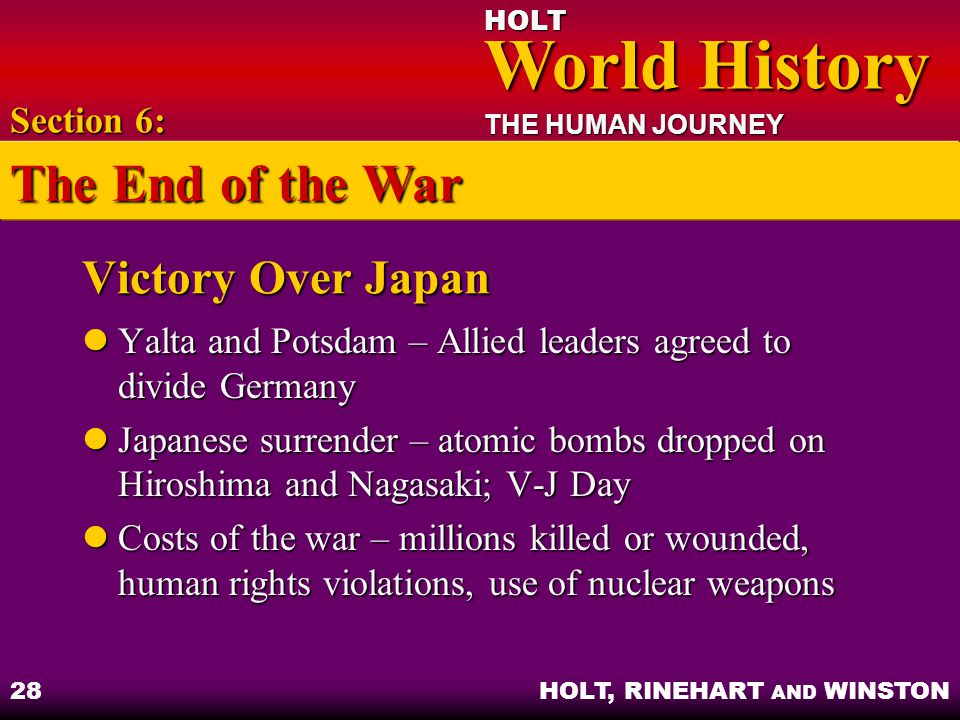 The End of the War Victory Over Japan Section 6: