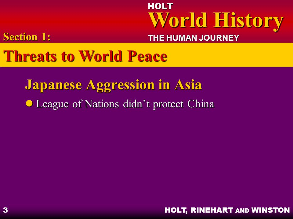 Japanese Aggression in Asia