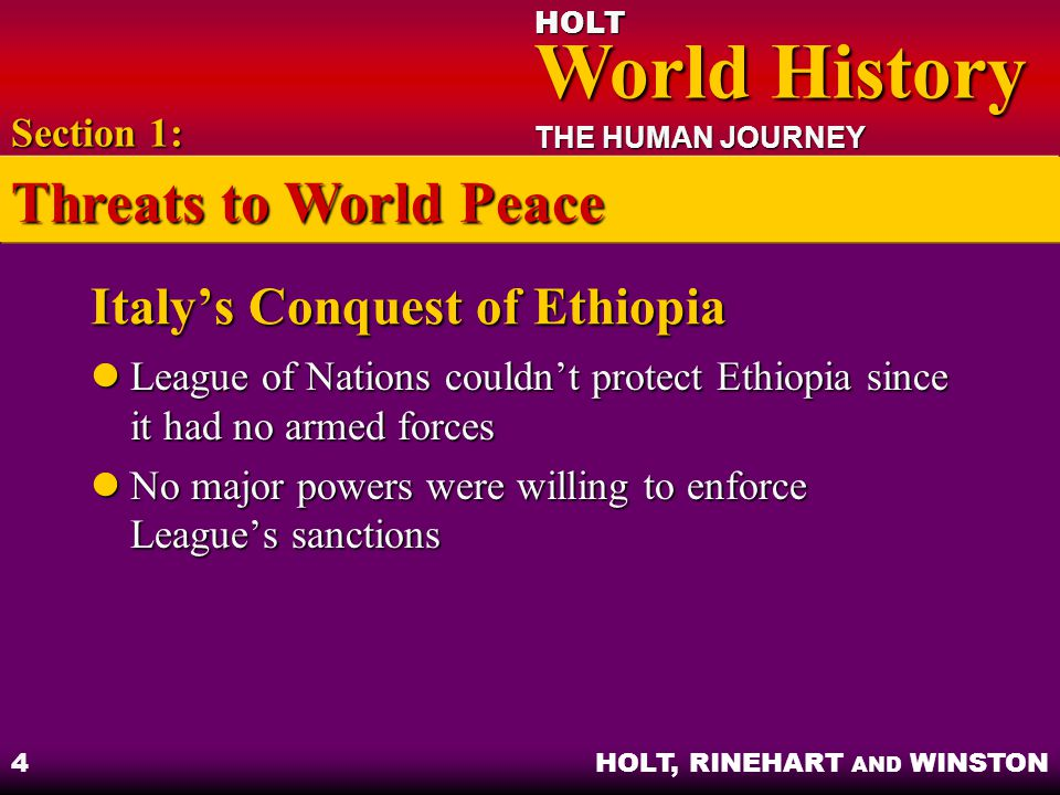 Italy's Conquest of Ethiopia