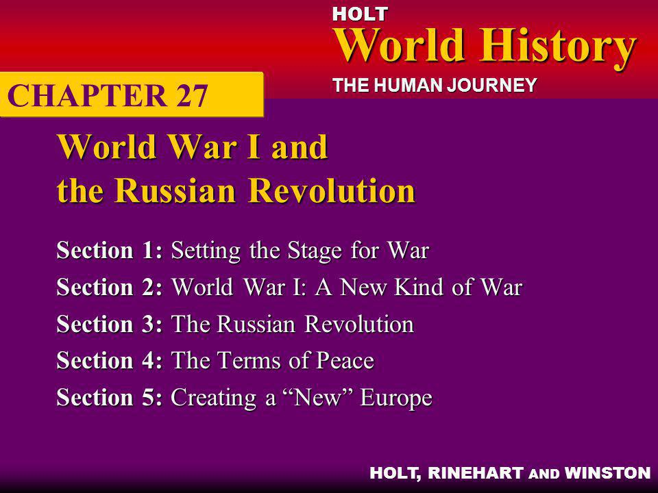 World War I and the Russian Revolution
