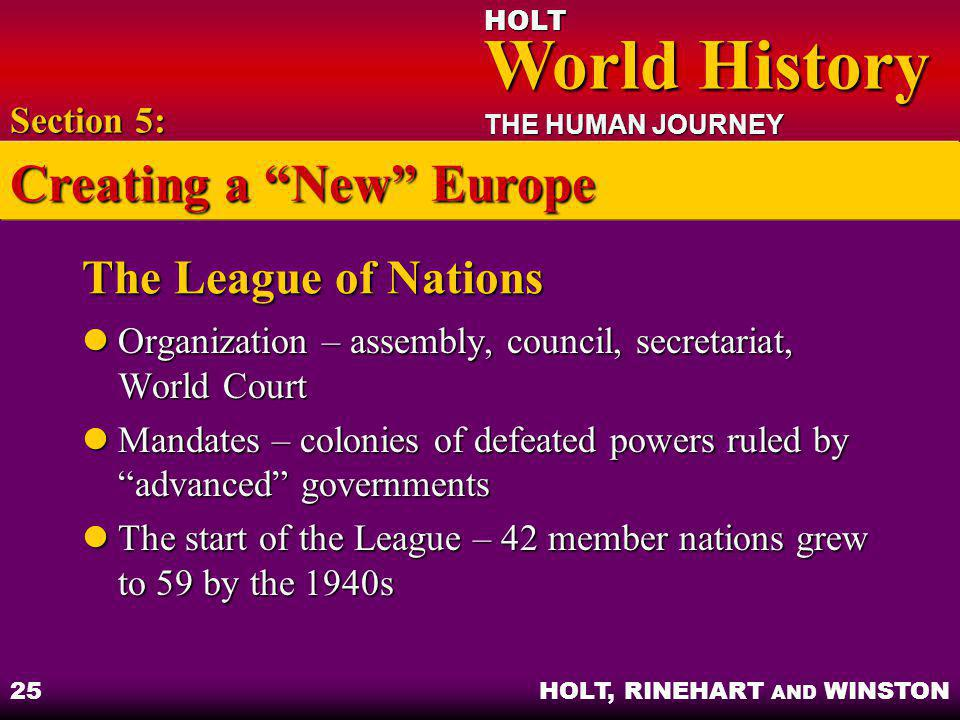 Creating a New Europe