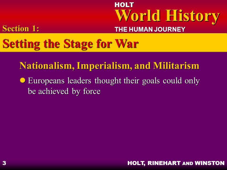 Nationalism, Imperialism, and Militarism
