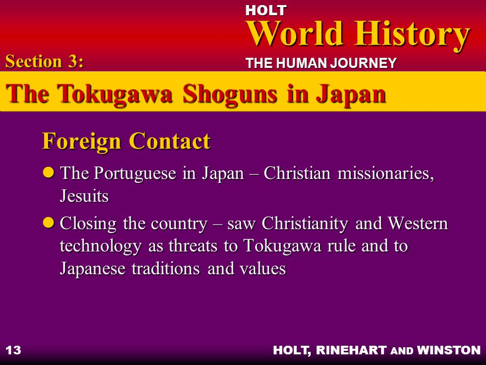 The Tokugawa Shoguns in Japan