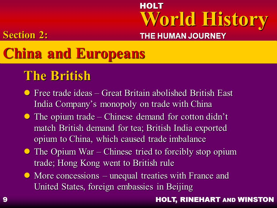 China and Europeans The British Section 2: