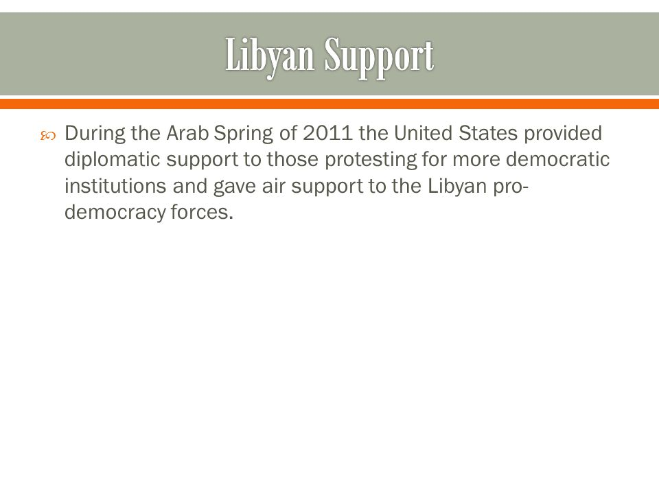Libyan Support