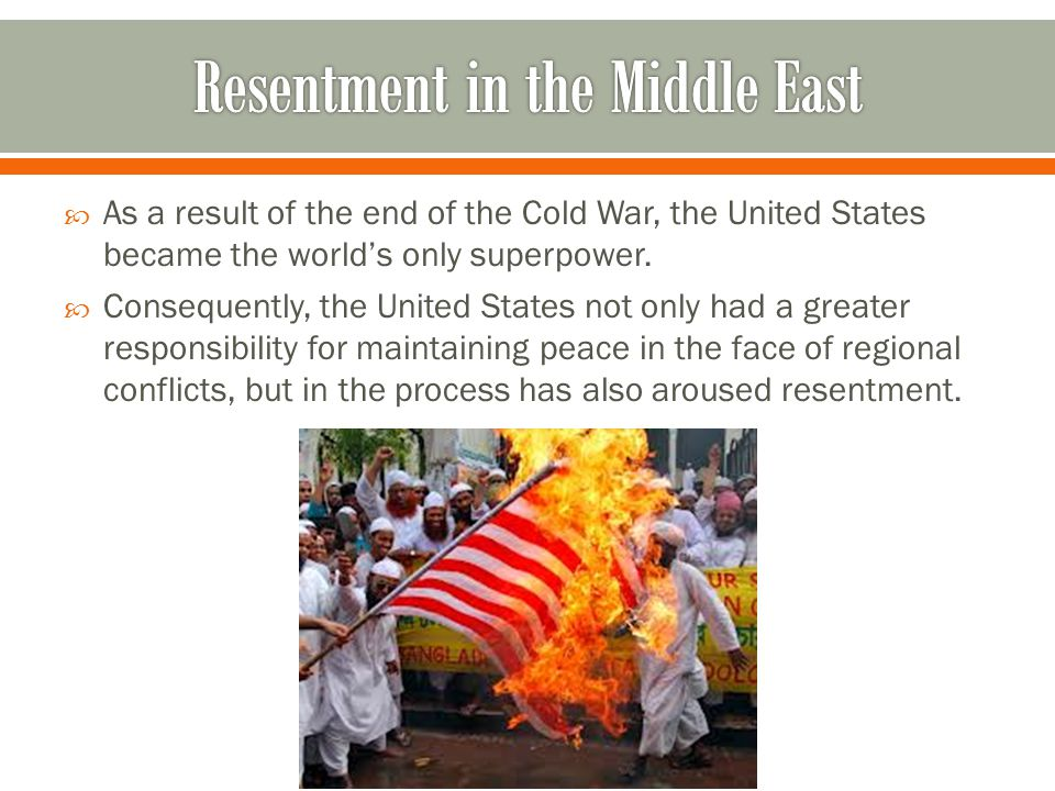 Resentment in the Middle East