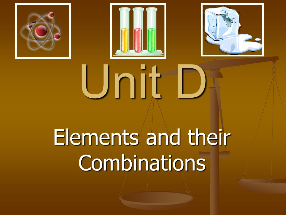 Elements and their Combinations