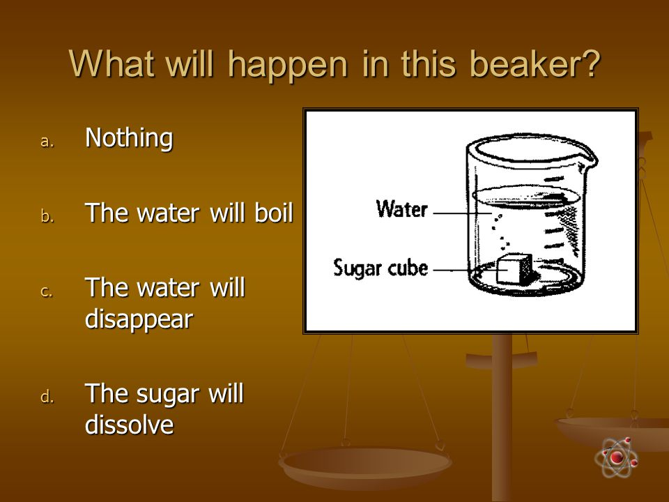 What will happen in this beaker