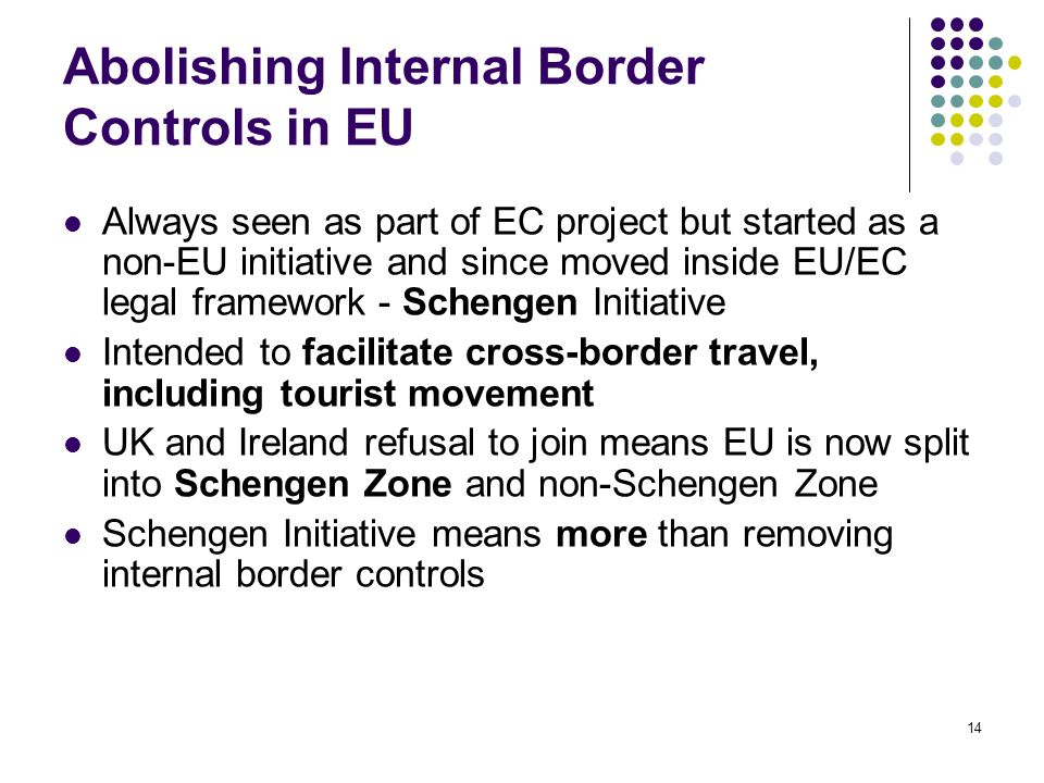 Abolishing Internal Border Controls in EU
