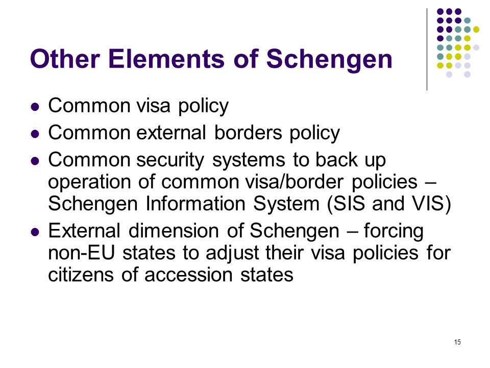 Other Elements of Schengen